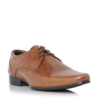 Howick Receipt Leather Lace Up Derby Shoes Tan