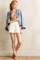 Twelfth St. By Cynthia Vincent Pleated Eyelet Shorts White