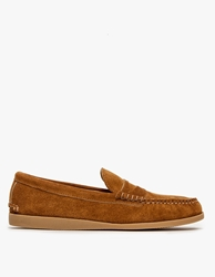 Quoddy Toast Suede Penny Loafer Gum