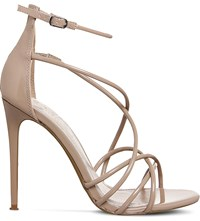 Office Angel Patent Strappy Sandals Nude Patent