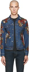 Dolce And Gabbana Indigo Embroidered Denim Jacket