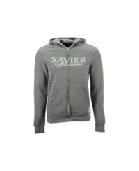 Retro Brand Men's Xavier Muskateers Tri Blend Full Zip Hoodie Gray