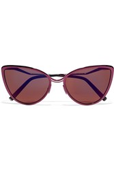 Cutler And Gross Aphrodite Cat Eye Metal Acetate Sunglasses Pink