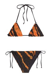 Missoni Mare Animal Print Knit Triangle Bikini Multicolor