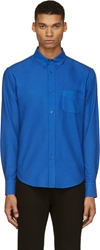 Band Of Outsiders Cobalt Blue Woven Button Down Shirt