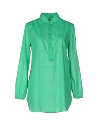 Gant Shirts Shirts Women Light Green