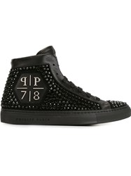 Philipp Plein 'Rainbow Warrior' Hi Top Sneakers Black