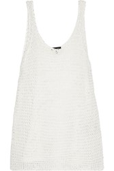 Rag And Bone Joelle Open Knit Cotton Tank White