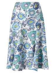 East Kerala Floral Skirt Blue