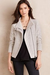 Anthropologie Textured Wool Moto Jacket Grey