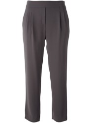 Steffen Schraut Loose Fit Cropped Trousers Brown