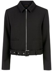 Jaeger Buckle Belt Detail Jacket Black