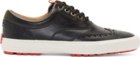 Paul Smith Black Leather Veil Brogue Sneakers