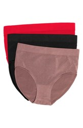 Wacoal Women's 'B Smooth' Seamless Briefs Tango Red Cappuccino Black