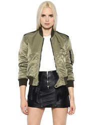 Saint Laurent Nylon Army Bomber Jacket