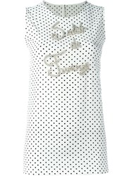 Dolce And Gabbana Embellished Tank Top White