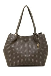 Carlos Santana Penny Dot Shoulder Bag Gray