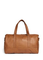 Meilleur Ami Paris 'Bel Ami' Leather Duffle Bag Brown