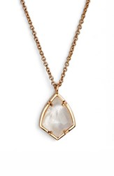 Kendra Scott Women's 'Cory' Semiprecious Stone Pendant Necklace Ivory Mop Rose Gold