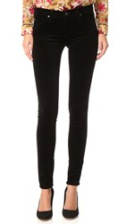Ag Jeans The Super Skinny Velvet Pants Super Black