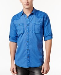 Inc International Concepts Men's Stormy Shirt Only At Macy's Riviera Blue