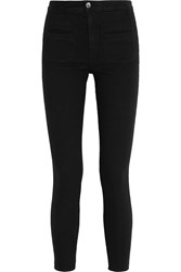 Kate Moss For Equipment Warren Stretch Twill Skinny Pants Black