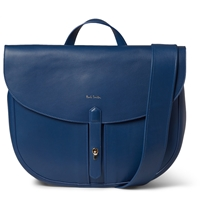 Paul Smith Medium Fishing Leather Satchel Blue