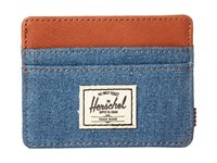 Herschel Charlie Denim Leather Credit Card Wallet Blue