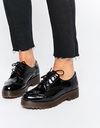 New Look Chunky Sole Flat Brogue Shoes Black