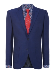 New And Lingwood Spindle Notch Lapel Blazer Blue