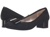 Bandolino Ximema Black Suede Patent Women's Shoes