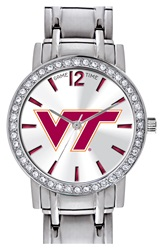 Game Time 'College All Star Virginia Tech' Crystal Bezel Bracelet Watch 32Mm