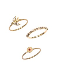 Lonna And Lilly Set Of Three Bird Rings Gold