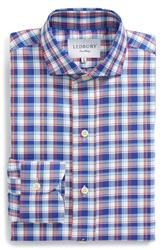 Ledbury 'Wheatley' Slim Fit Plaid Dress Shirt Blue Red White