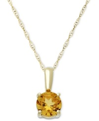 Macy's Citrine Pendant Necklace In 14K Gold 5 8 Ct. T.W.