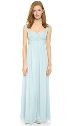 Jill Stuart Chiffon Gown Clear Water Blue