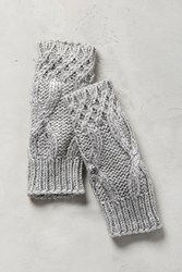 Anthropologie Northern Light Fingerless Gloves Grey