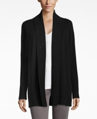 Charter Club Cashmere Open Front Cardigan Only At Macy's Classic Black