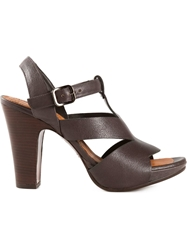 Chie Mihara Ankle Strap Sandals Black