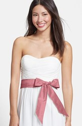 Women's L. Erickson Silk Charmeuse Medium Sash Pink Wax