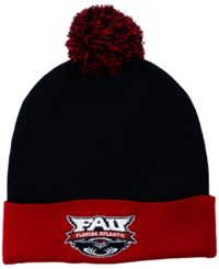 Top Of The World Florida Atlantic Owls 2 Tone Pom Knit Hat