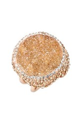 Women's Elise M. 'Goddess' Crystal And Stone Cocktail Ring