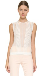 Narciso Rodriguez Sheer Panel Top White