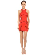 Dsquared Compact Viscose Jersey Dress Berry Red