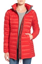 Canada Goose Women's 'Brookvale' Hooded Quilted Down Coat Red Black