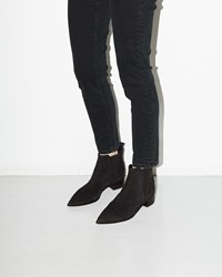 Acne Studios Jensen Suede Ankle Boot Black