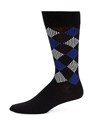 Saks Fifth Avenue Red Diamond Line Socks Black