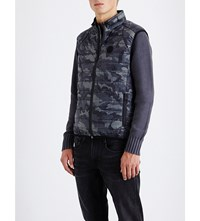 Replay Camouflage Shell Gilet Blue