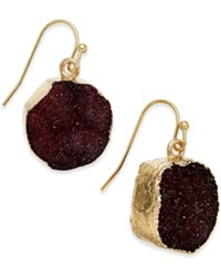 Inc International Concepts Gold Tone Druzy Crystal Earrings Only At Macy's Merlot