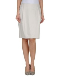 Gigue Knee Length Skirts Light Grey